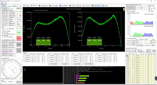 Esperimenti, emissione radio del Sole con i radiotelescopi SPIDER: il tab BBC Tool consente di rimuovere il segnale artificiale se presente