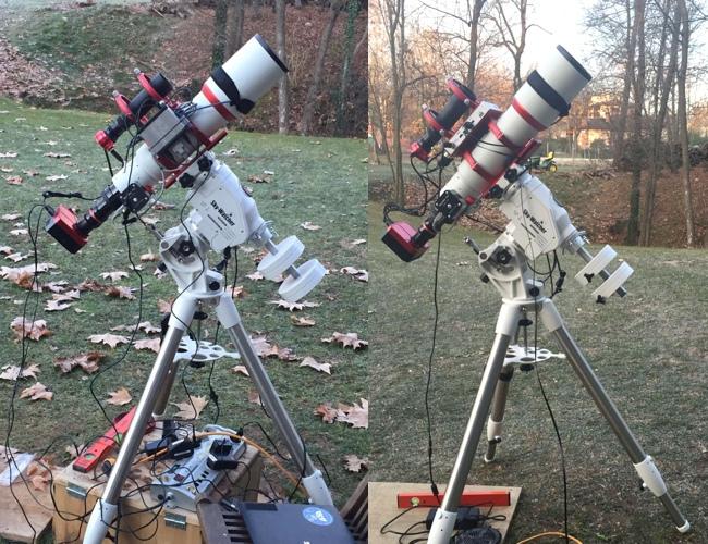 Recensione di Eagle: a sinistra il mio setup disordinato di prima; a destra con Eagle!
