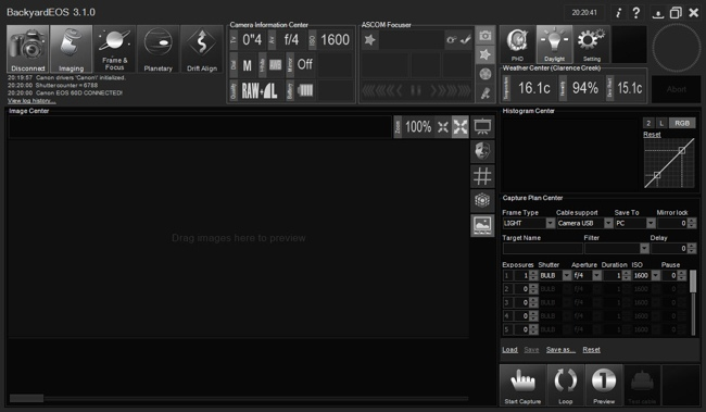 Softwares for Eagle: BackyardEOS