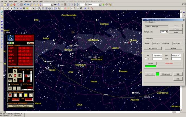 Softwares for Eagle: Cartes du Ciel
