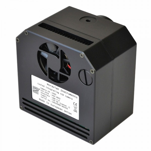 Astrophotography camera for deep-sky: Moravian G2 CCD camera has a cooling system with Peltier cell.