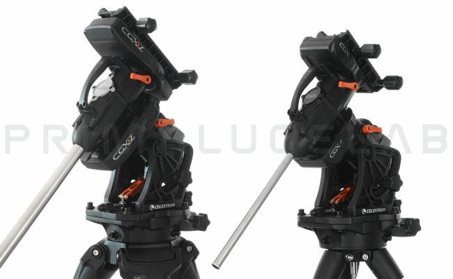 Celestron CGX and CGX-L mounts: heads dimensions