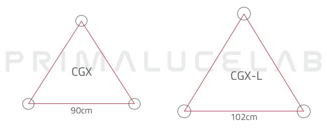 Celestron CGX and CGX-L mounts: tripod dimensions