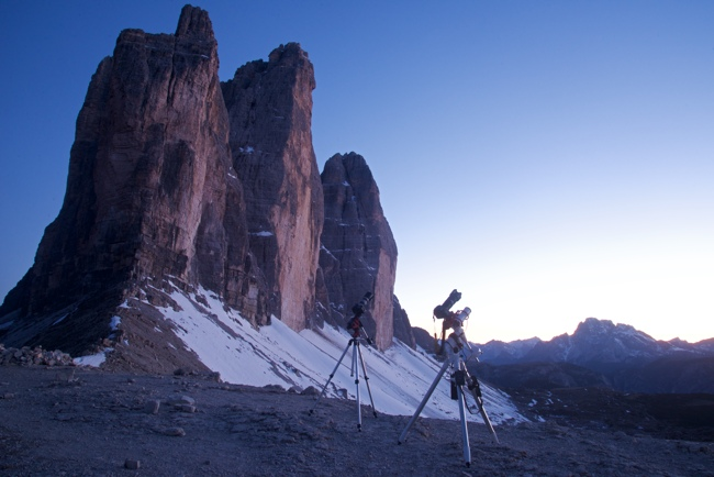 Star Adventurer versus EAGLE CORE kit: on Forcella Lavaredo close to Tre Cime di Lavaredo