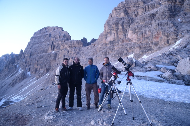 Star Adventurer versus EAGLE CORE kit: in Forcella Lavaredo with instruments used for the comparison