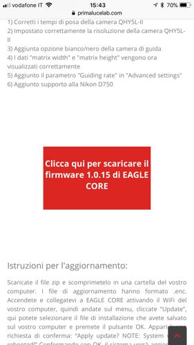 Aggiornare EAGLE CORE con iOS 11