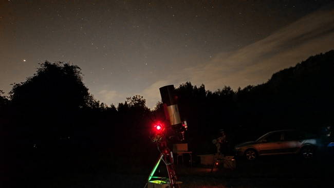 Astrophotography and light pollution: our telescope under the sky with low light pollution