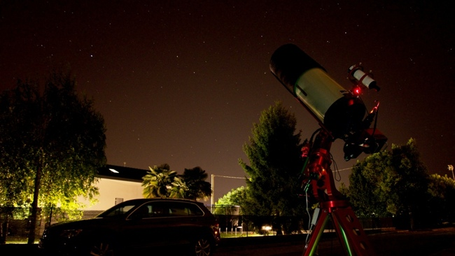 Astrophotography and light pollution: our telescope under the sky with high light pollution