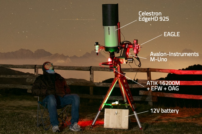 Astrophotography automation software with EAGLE: the telescope used for the article