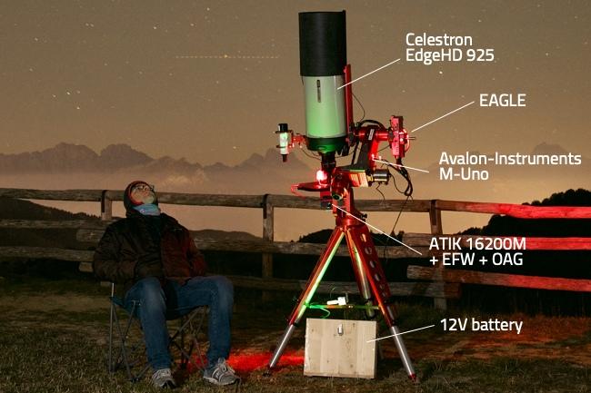 Software di automazione per astrofotografia con EAGLE: il telescopio utilizzato