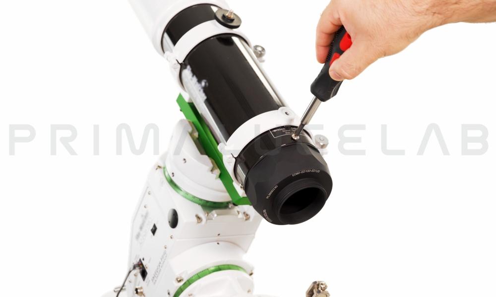 ESATTO come focheggiatore per rifrattori e astrofotografia: l'adattatore PL3600230 consente di installare facilmente ESATTO sul telescopio Skywatcher EVOSTAR 80 ED.